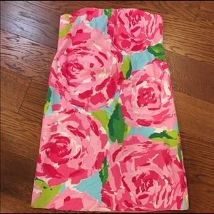 Lilly Pulitzer strapless first impressions dress